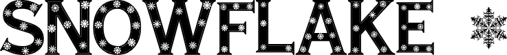 Preview image for Snowflake Letters