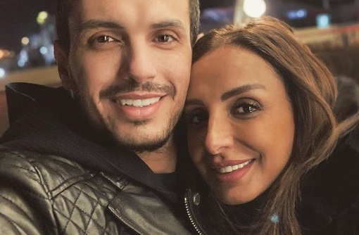 Ahmed Ibrahim with Wife Angham