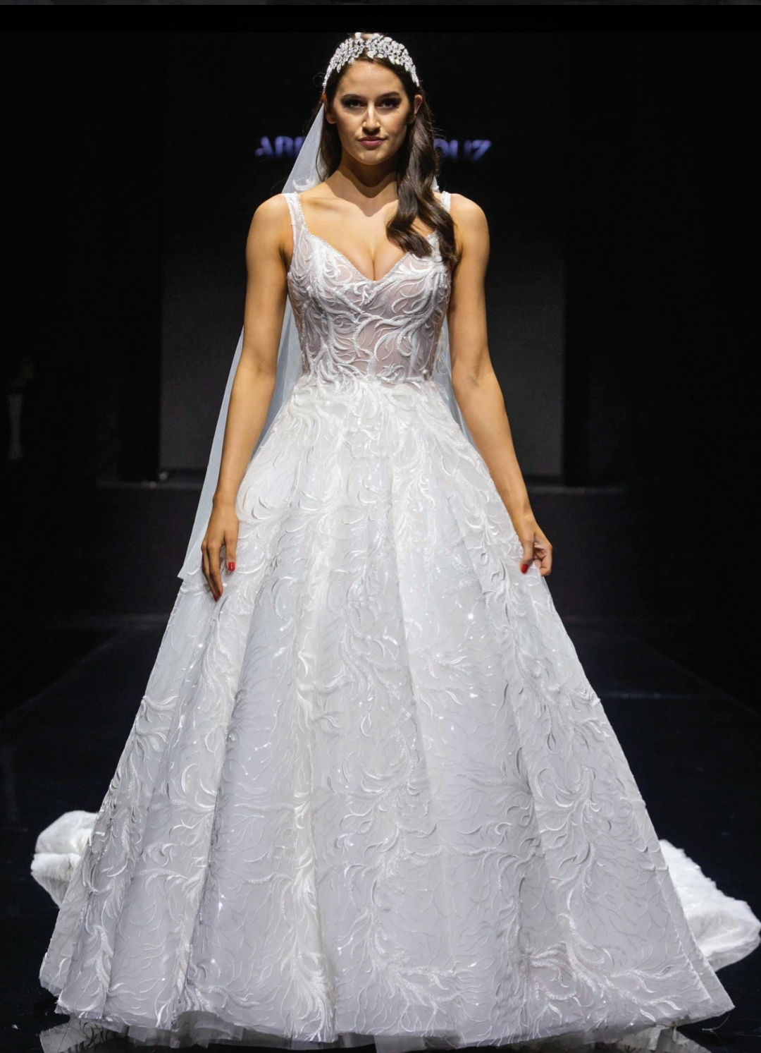 wedding dress by Abed Mahouz