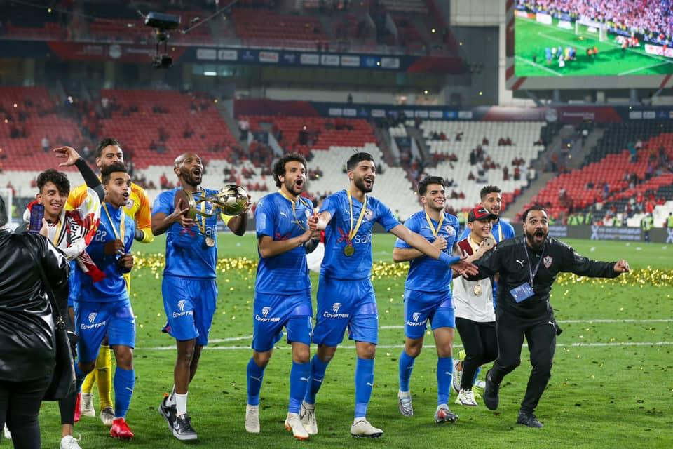 The Whites' players is celebrating their victory