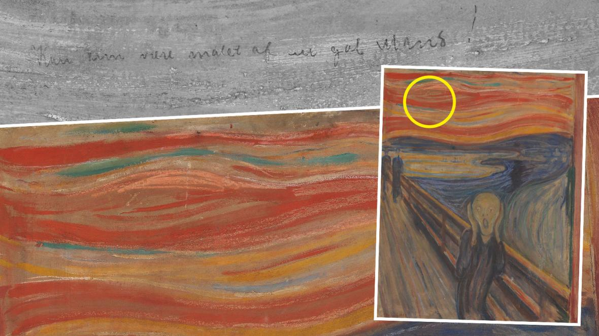 """Message hidden inside """"The Scream"""" painting revealed"""