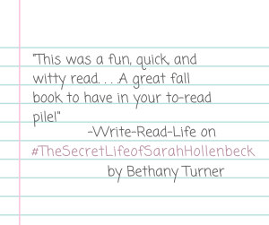 Turner_The Secret Life of Sarah Hollenbeck_Write-Read-Life