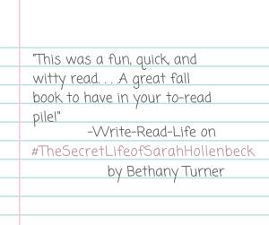 Turner_The Secret Life of Sarah Hollenbeck_Write-Read-Life