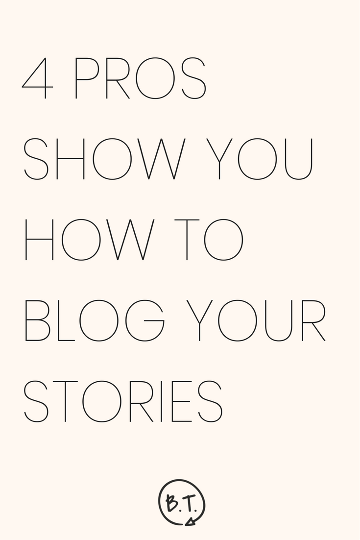 Share personal stories on your business blog! 4 masters