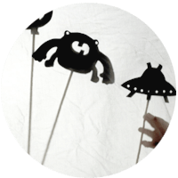 Monsters and Aliens Shadow Puppets