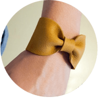 Put a Bow on It:  DIY Leather Bow Cuff Bracelet