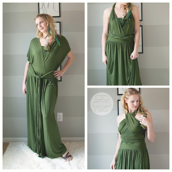 DIY Infinity Wrap maxi dress