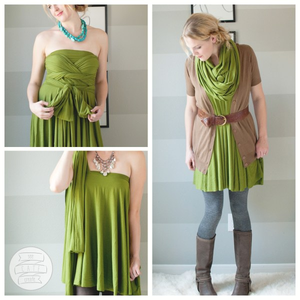 DIY Infinity Wrap Dress Short