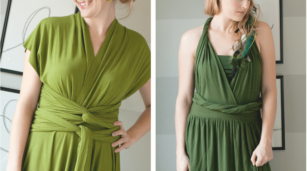 Easy-to-Sew Infinity Dress:  DIY Wrap Dress Tutorial