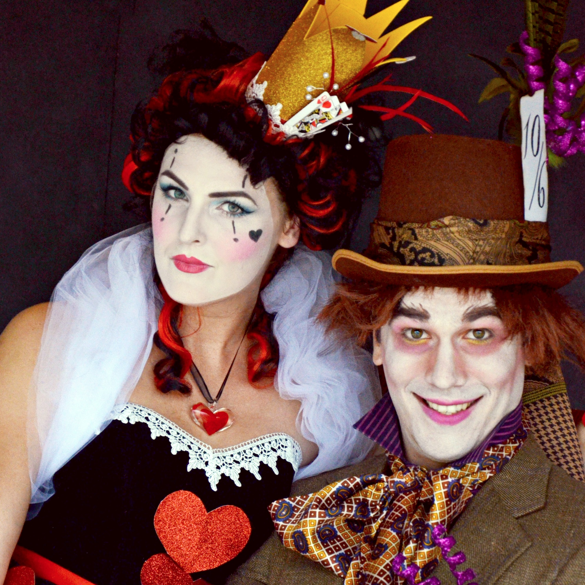 Mad Hatter And Queen Of HeartsCouples Halloween Costume Ideas