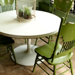 Painted Kitchen Chairs Corner Pantry And Distressed Green See Cate Create