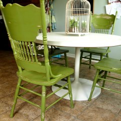 Painted Kitchen Chairs Used Sinks For Sale And Distressed Green See Cate Create