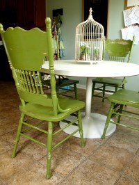Painted and Distressed Green Kitchen Chairs! | See|Cate|Create