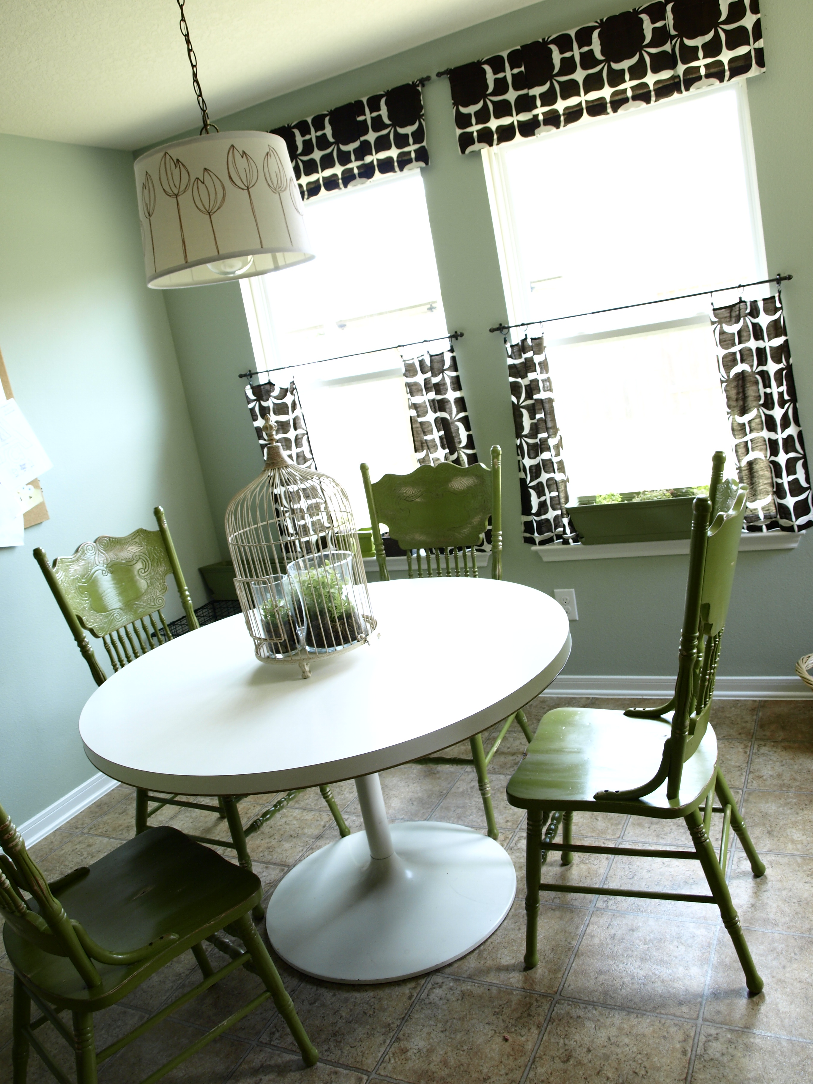 green kitchen chairs sink drain pipe painted and distressed see cate create