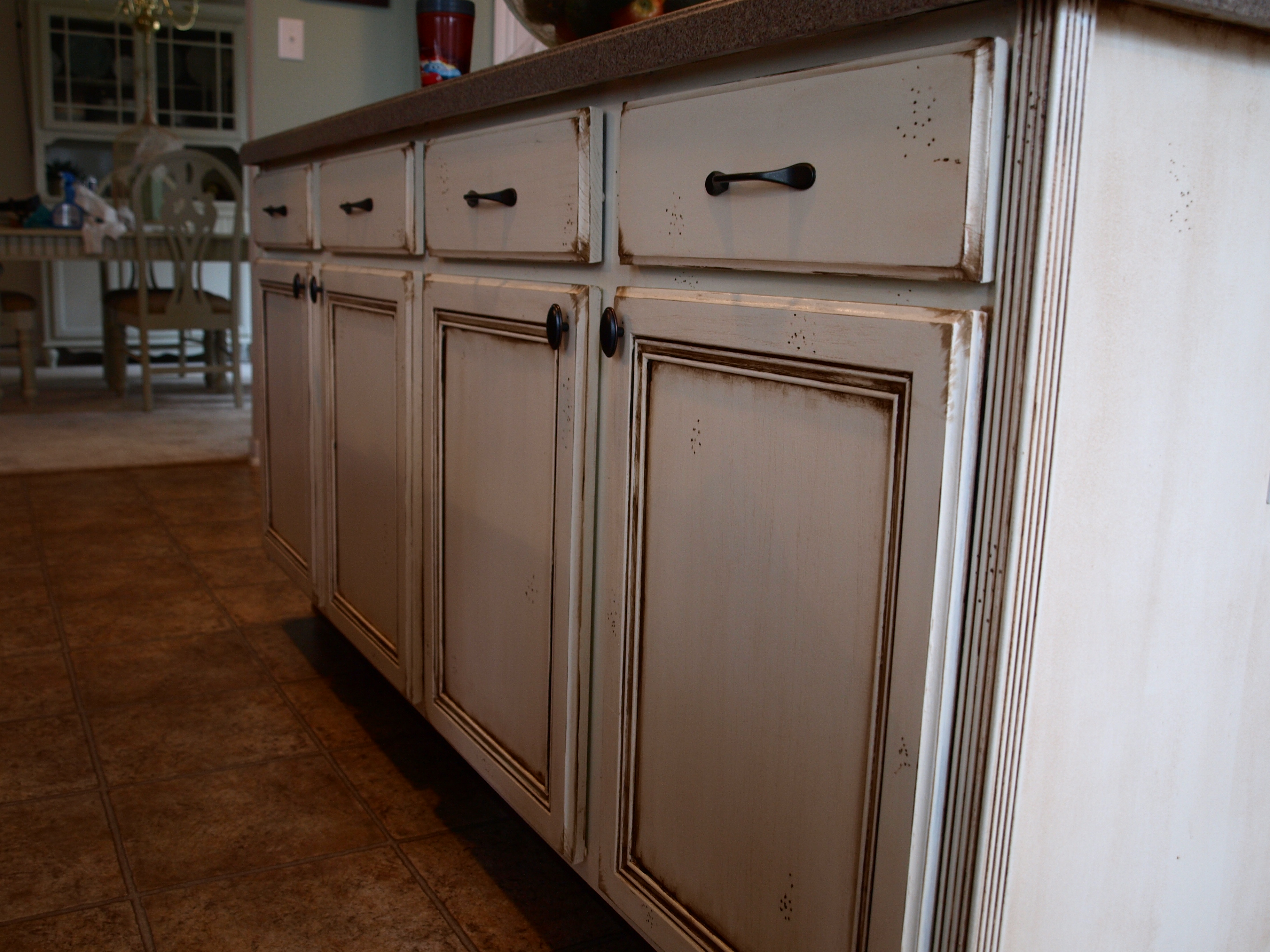 How To Paint And Antique Kitchen Cabinets (my Way