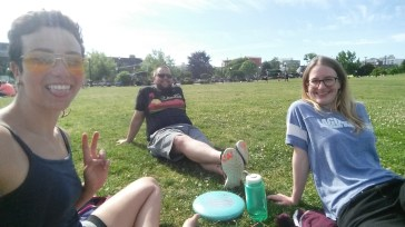 frisbee time in Seattle with these pals