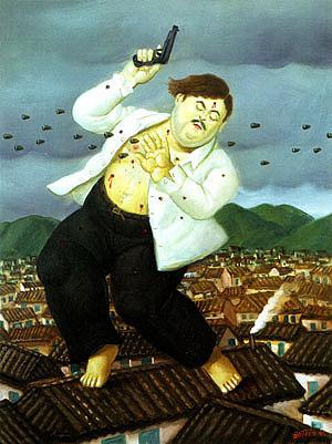 Fernando Botero - The Death of Pablo Escobar