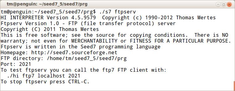 Seed7 Program: Ftpserv