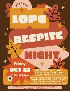 LOPC Fall Respite Night