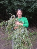 We collected tons of branches from a fallen willow tree to make jewelry, crowns, and other such creations.