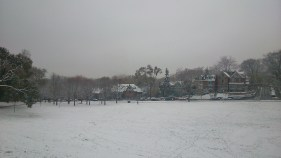 Withrow Park on a snowy day