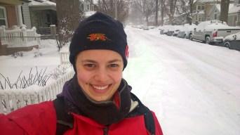 Skiing down my street, on February 2nd 2015.