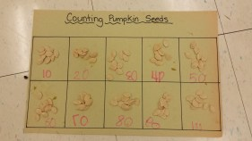 Counting pumpkin seeds by 10s