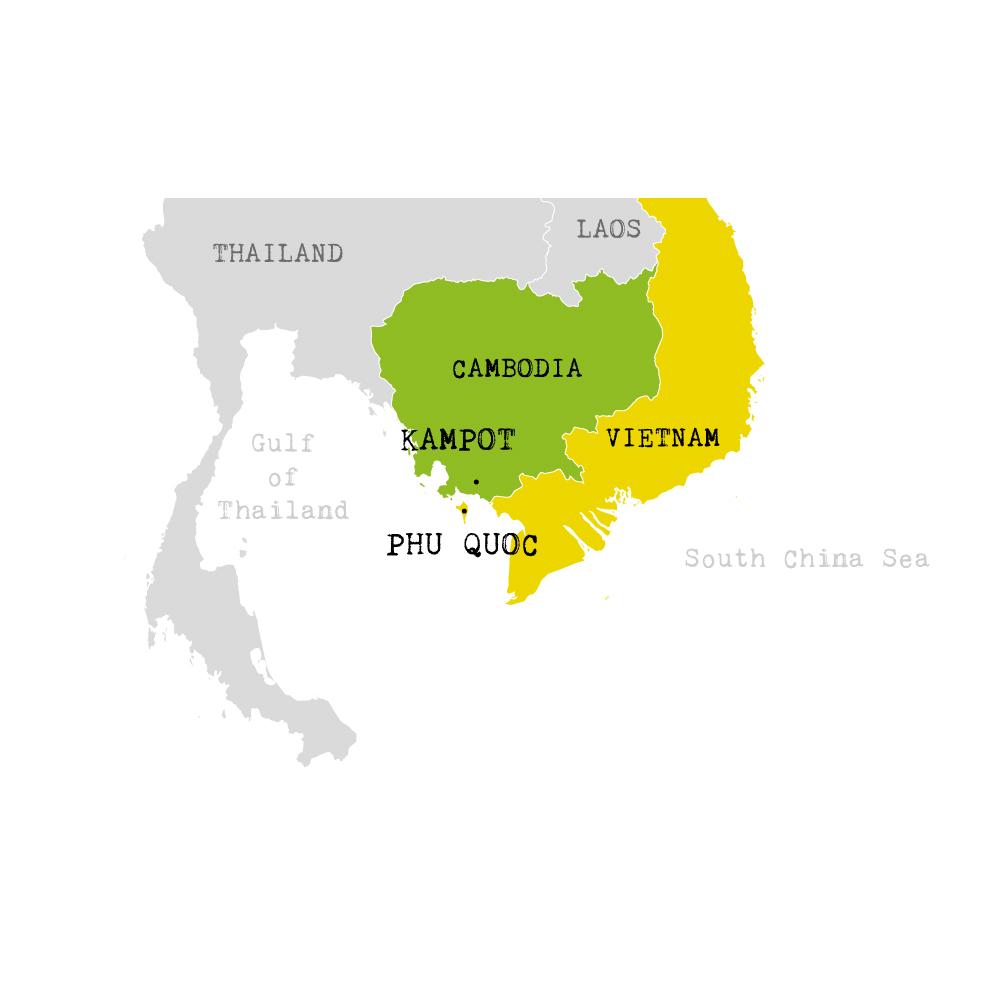 kampot et phu quoc map