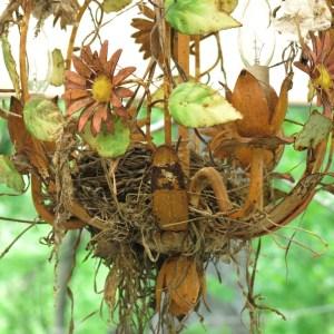 Nest built in terrace chandelier