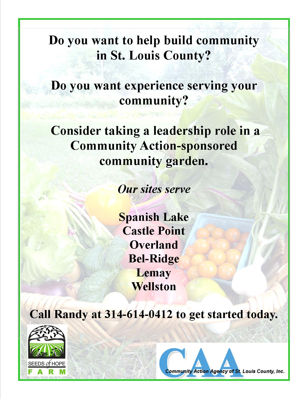 Do You Want To Help Build Community In St Louis County