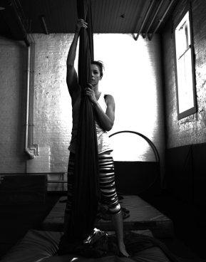 Colleen Van Spankeren at the Calgary Circus Studio