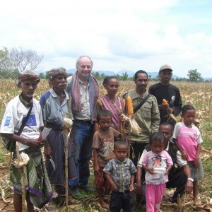 Rob Williams, currently SoL's Research Advisor, working with farmers in 2008
