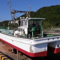 """ども!  定置網漁船""""はま丸""""メンテ中@熊野港"""