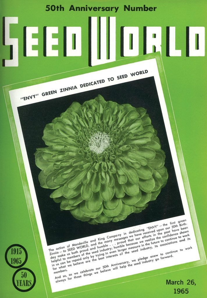 March 26, 1965 marked the 50th anniversary issue of Seed World