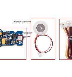 transducer interface connect ultrasonic transducer to with driver board grove wire connect main control board with driver board  [ 1200 x 800 Pixel ]