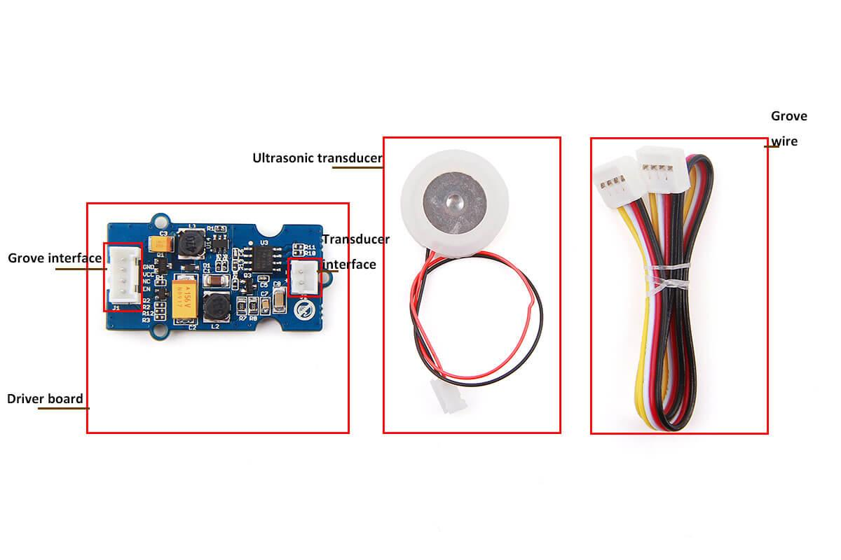 hight resolution of transducer interface connect ultrasonic transducer to with driver board grove wire connect main control board with driver board