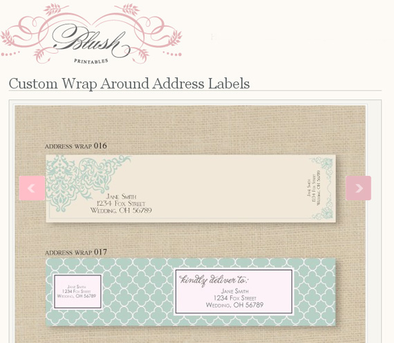 blush printable labels