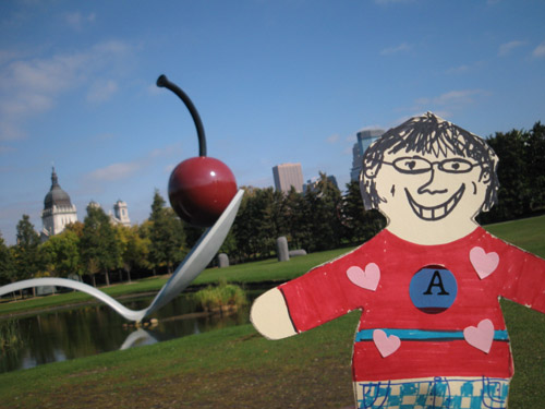 Flat Stanley, poop and The Cherry & The Spoon