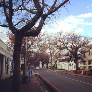 Heading out of Stellenbosch for the weekend. Home, for now, more about this little town later, te prometo.