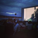 Movie night on Lac Leman