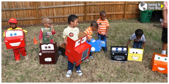 Disney Cars Party Box Cars