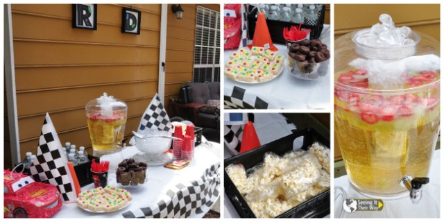 Disney Cars Party Table