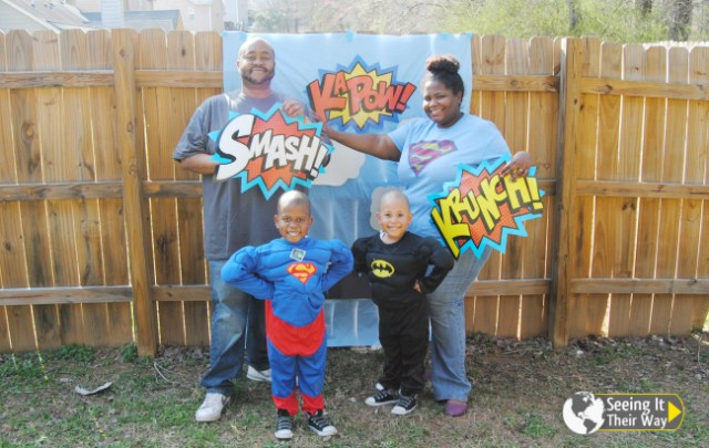Super Hero Party Family