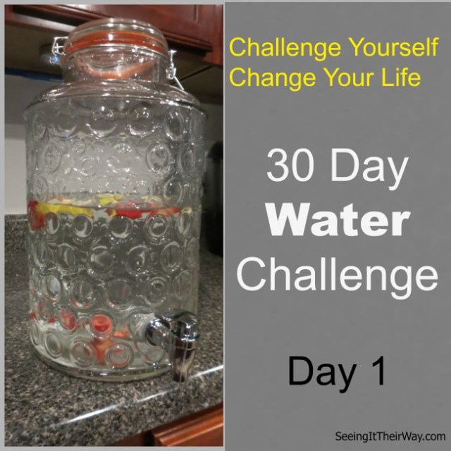 30 Day Water Challenge Day 1