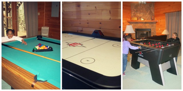 Cabin Rental Games Collage