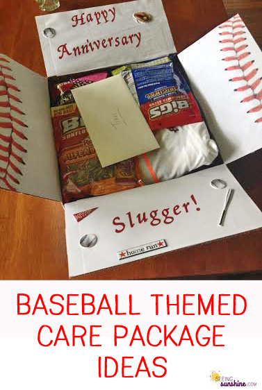 Baseball Themed Care Package Seeing Sunshine