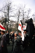 "The ""Chernobyl March"" in Minsk, Belarus, on 26 April 1996, the tenth anniversary of the Chernobly disaster (photo by author)."