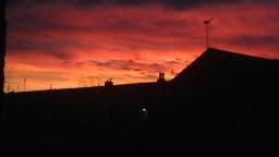 Red sky at night shepherds delight. UK 2014