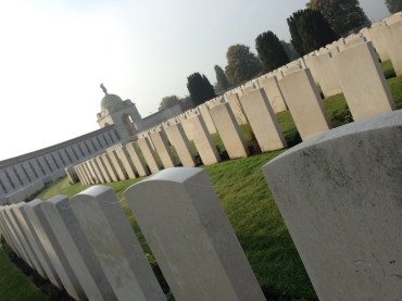 Between the crosses, row on row. Tyne Cot Cemetery, France 2016