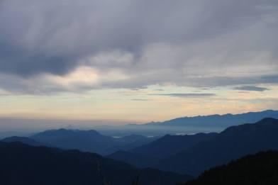 Mountain side view. Alishan Mountain, Taiwan 2015